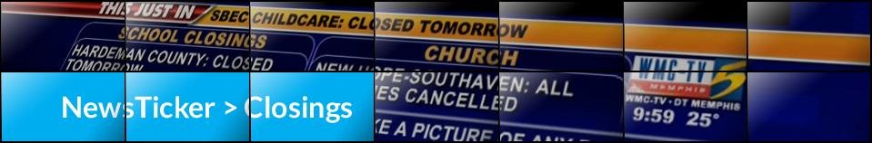 NewsTicker > Closings
